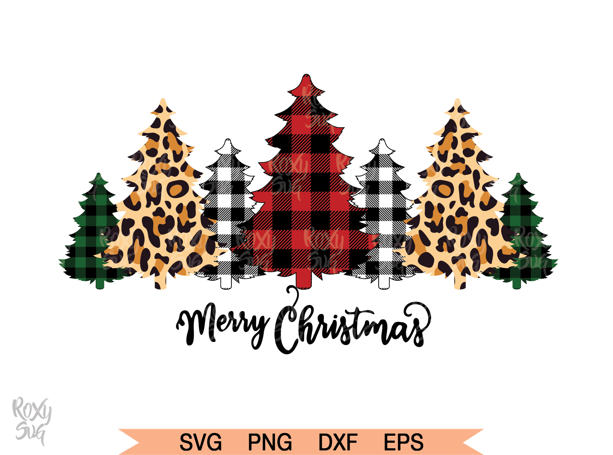 Download Free Buffalo Plaid Trees Graphic By Roxysvg26 Creative Fabrica for Cricut Explore, Silhouette and other cutting machines.