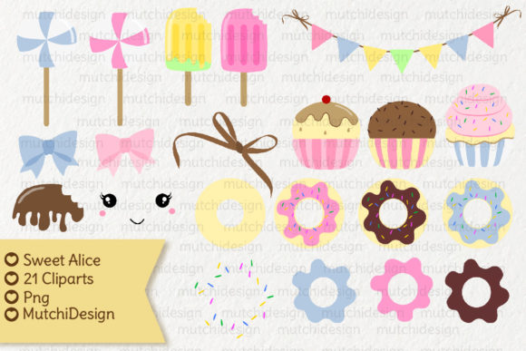 Print on Demand: Sweet Alice Clipart Graphic Illustrations By Mutchi Design