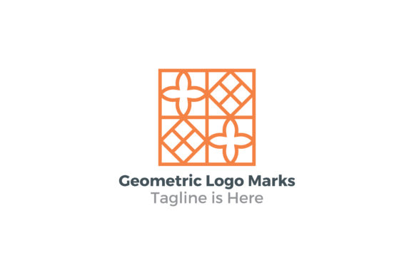 Download Free Geometric Logo Marks Graphic By Acongraphic Creative Fabrica for Cricut Explore, Silhouette and other cutting machines.
