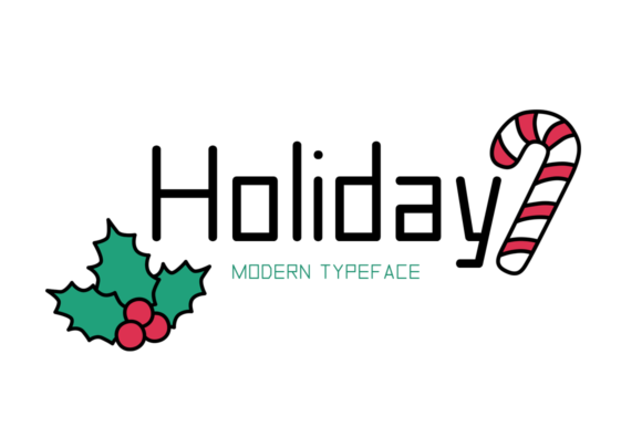 Print on Demand: Holiday Display Font By FontEden