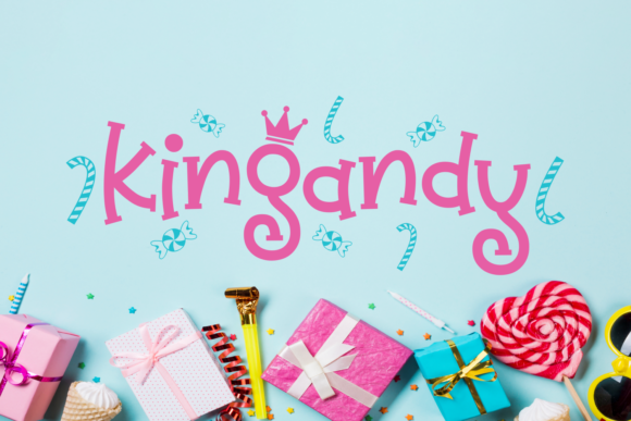 Print on Demand: Kingandy Display Font By Situjuh - Image 5