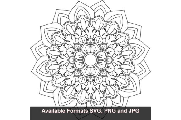 Download Free Mandala Art 252 Graphic Graphic By Iwantto Us Creative Fabrica for Cricut Explore, Silhouette and other cutting machines.