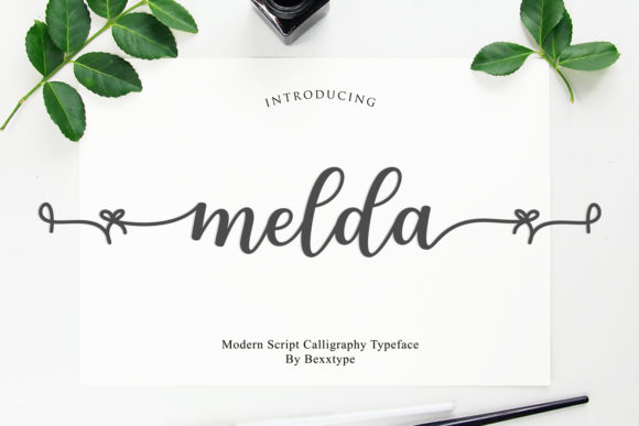 Print on Demand: Melda Script & Handwritten Font By Bexx Type