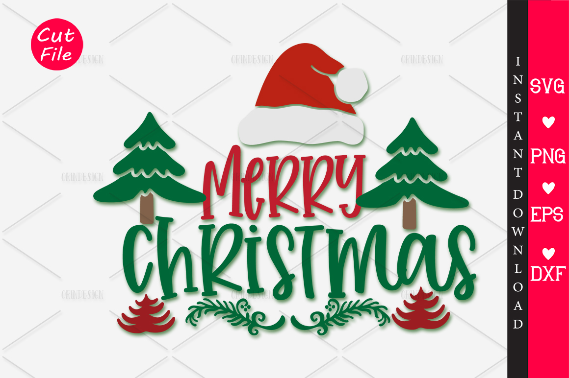 Download Free Merry Christmas Graphic By Orindesign Creative Fabrica for Cricut Explore, Silhouette and other cutting machines.
