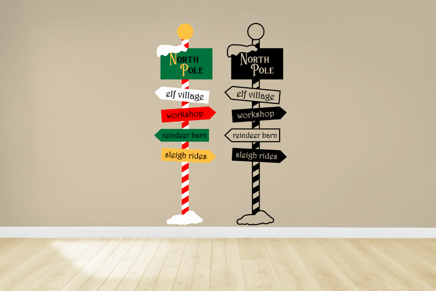 Download Free Christmas North Pole Sign Post Graphic By Designedbygeeks for Cricut Explore, Silhouette and other cutting machines.