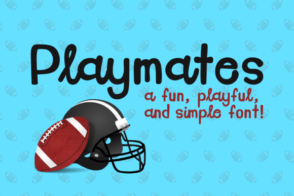 Print on Demand: Playmates Sans Serif Font By Pinoyartkreatib