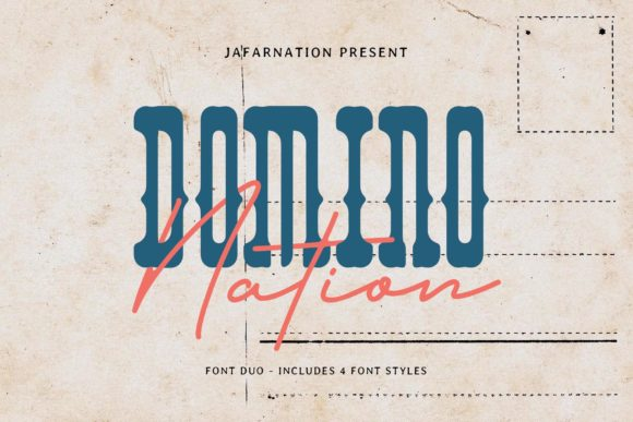 Domino Nation Script & Handwritten Font By jafarnation