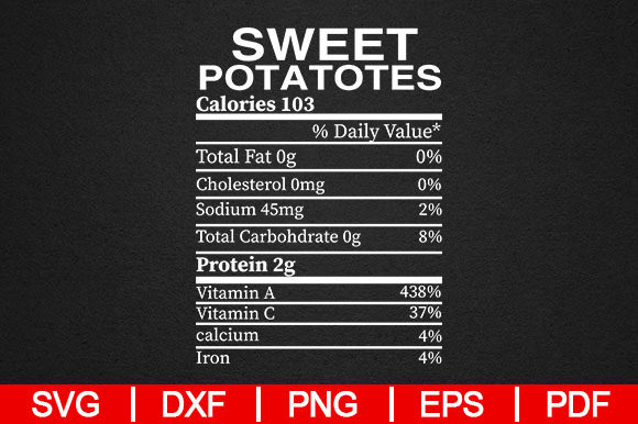 Print on Demand: Sweet Potato Nutrition Facts Graphic Crafts By Artistcreativedesign