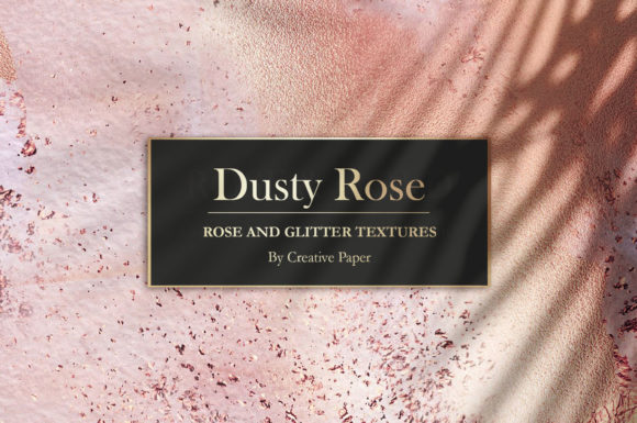 Print on Demand: Rose Gold Watercolor Marble Textures Graphic Textures By Creative Paper - Image 1