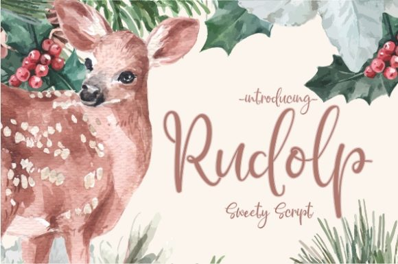 Print on Demand: Rudolp Script & Handwritten Font By Gilar Studio