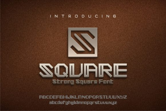 Print on Demand: Square Display Font By Herulogo