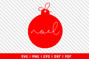 Download Free Noel Christmas Ornament Ball Graphic By Mockup Venue Creative for Cricut Explore, Silhouette and other cutting machines.
