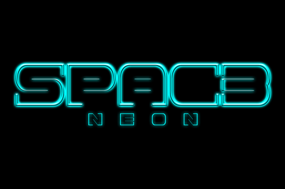 Print on Demand: Spac3 Neon Display Font By Qbotype Fonts