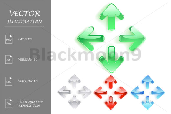 Symbol of Arrows from Smooth Glass Graphic Illustrations By Blackmoon9