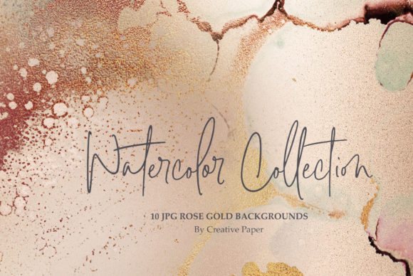 Gold Watercolor - Ink Foil Textures Graphic By artisssticcc