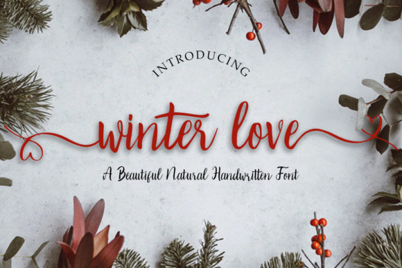 Winter Love Manuscrita Fuente Por Madatype Studio