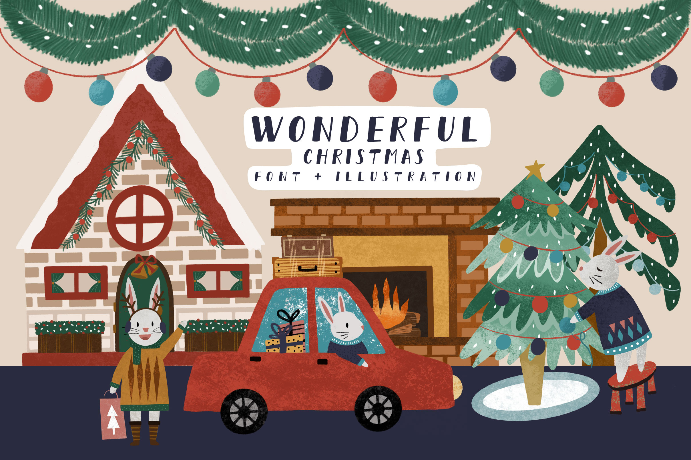 Download Free Wonderful Christmas Graphic By Caoca Studios Creative Fabrica for Cricut Explore, Silhouette and other cutting machines.