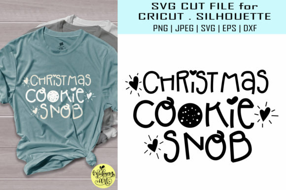 Download Free Christmas Cookie Snob Graphic By Midmagart Creative Fabrica for Cricut Explore, Silhouette and other cutting machines.