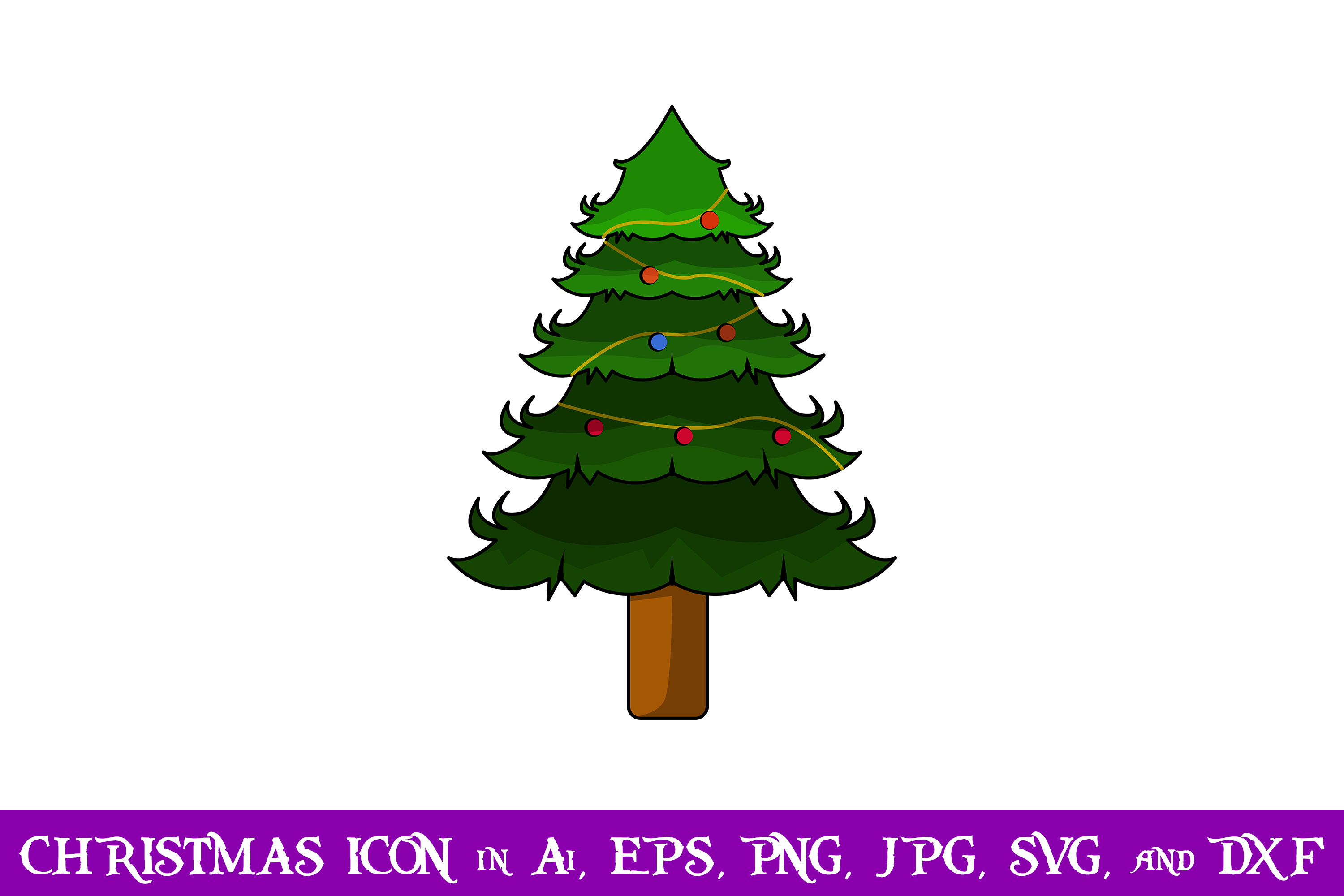 Download Free Tree Christmas Icon Graphic By Purplespoonpirates Creative Fabrica for Cricut Explore, Silhouette and other cutting machines.
