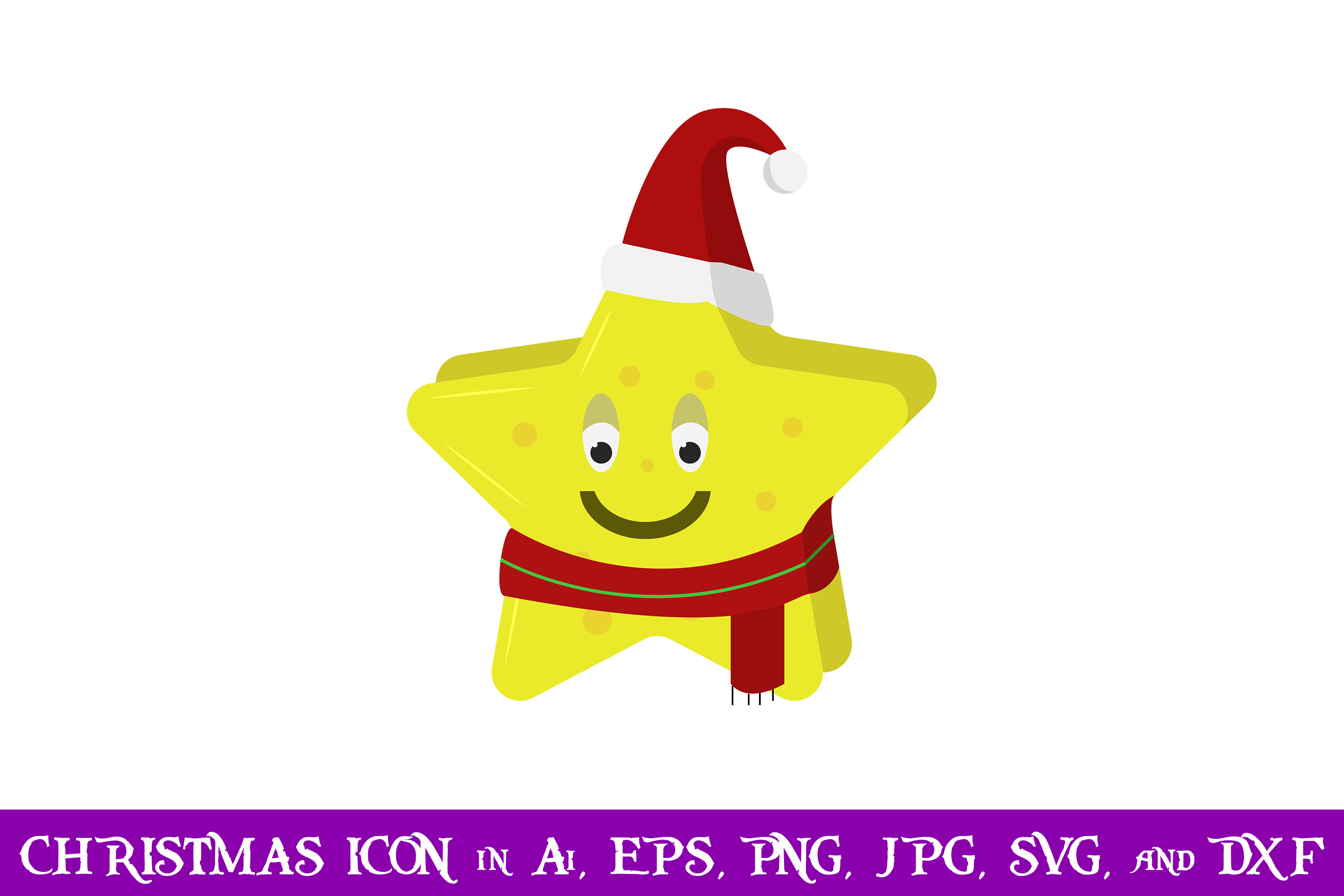 Download Free Star Santa Christmas Icon Graphic By Purplespoonpirates Creative Fabrica for Cricut Explore, Silhouette and other cutting machines.