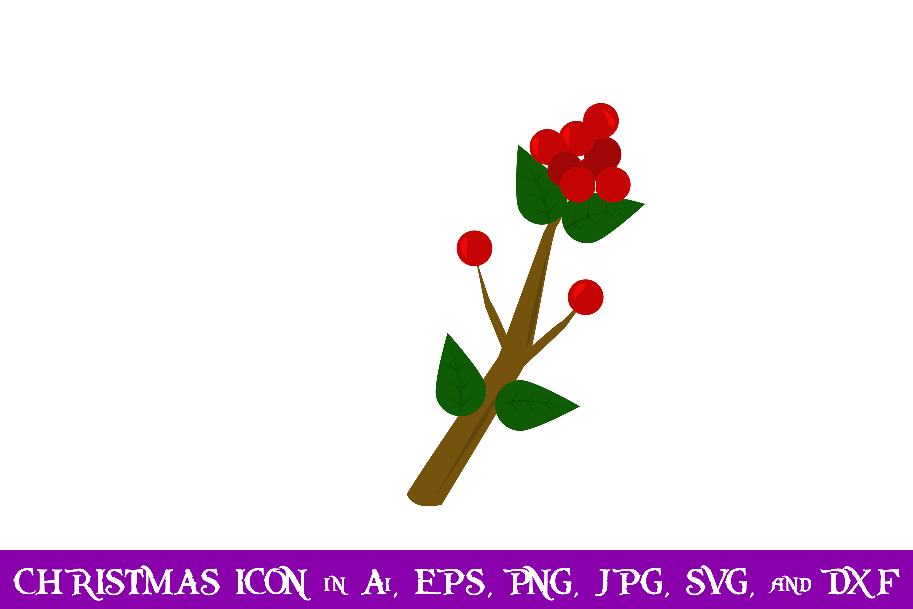 Download Free Holly Berries Christmas Icon Creative Fabrica for Cricut Explore, Silhouette and other cutting machines.