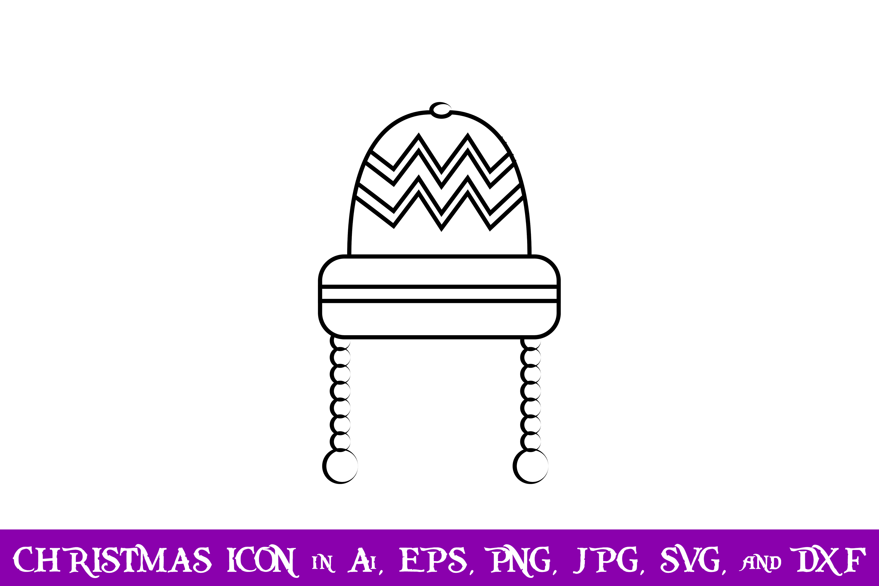 Download Free Winter Cap Christmas Icon Graphic By Purplespoonpirates for Cricut Explore, Silhouette and other cutting machines.