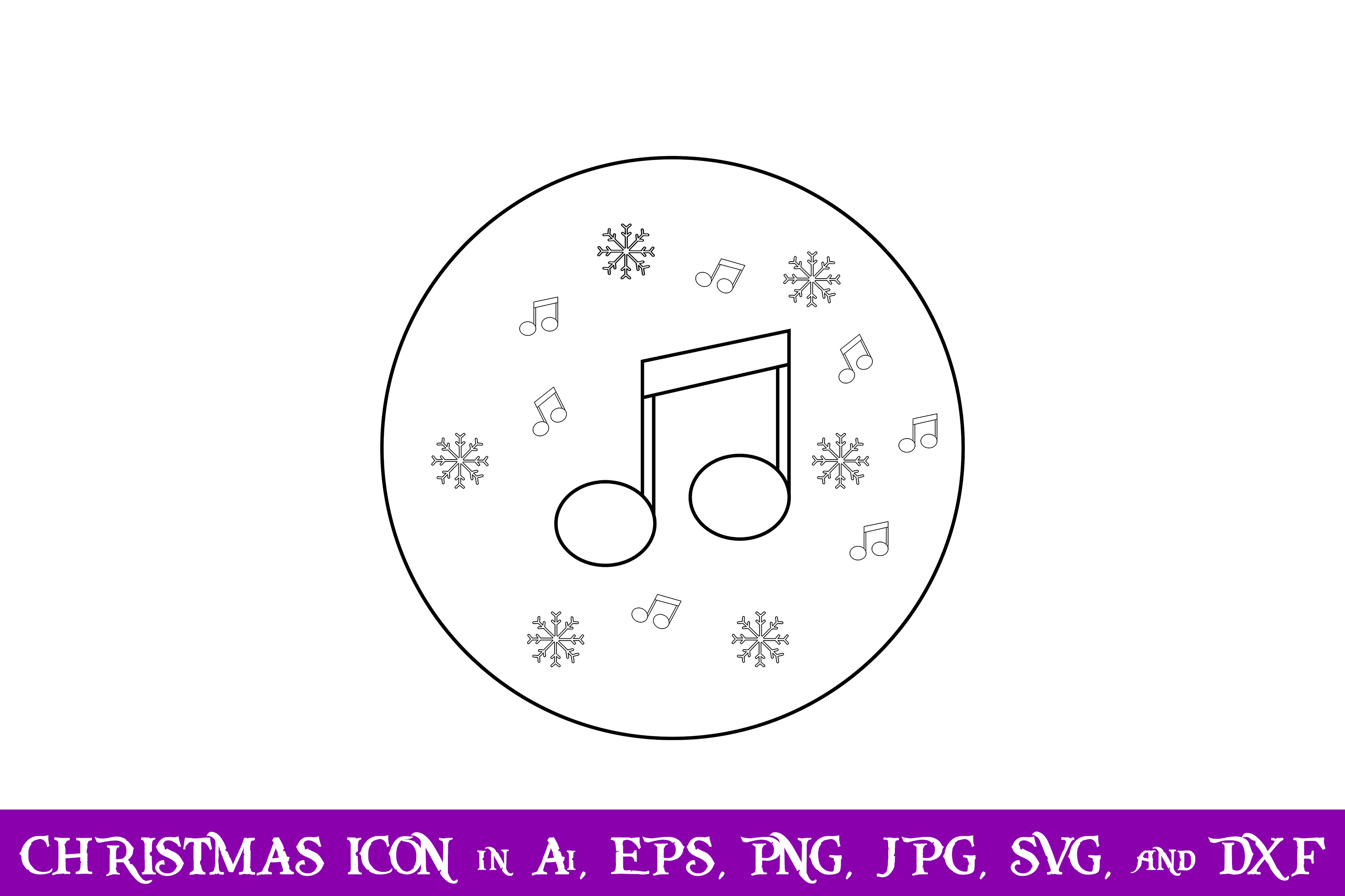 Download Free Music And Snow Christmas Icon Grafico Por Purplespoonpirates for Cricut Explore, Silhouette and other cutting machines.