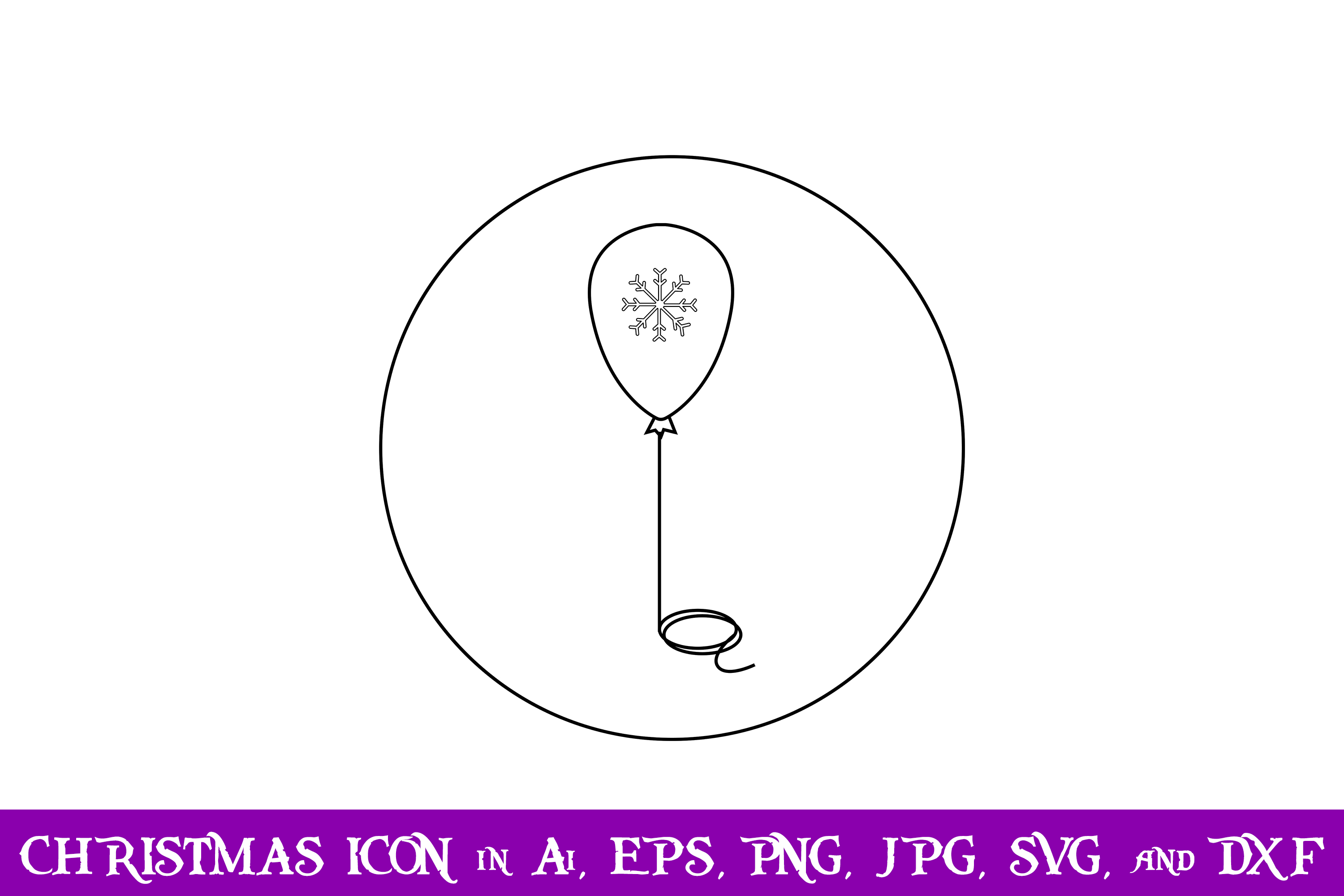 Download Free Balloon Christmas Icon Graphic By Purplespoonpirates Creative for Cricut Explore, Silhouette and other cutting machines.