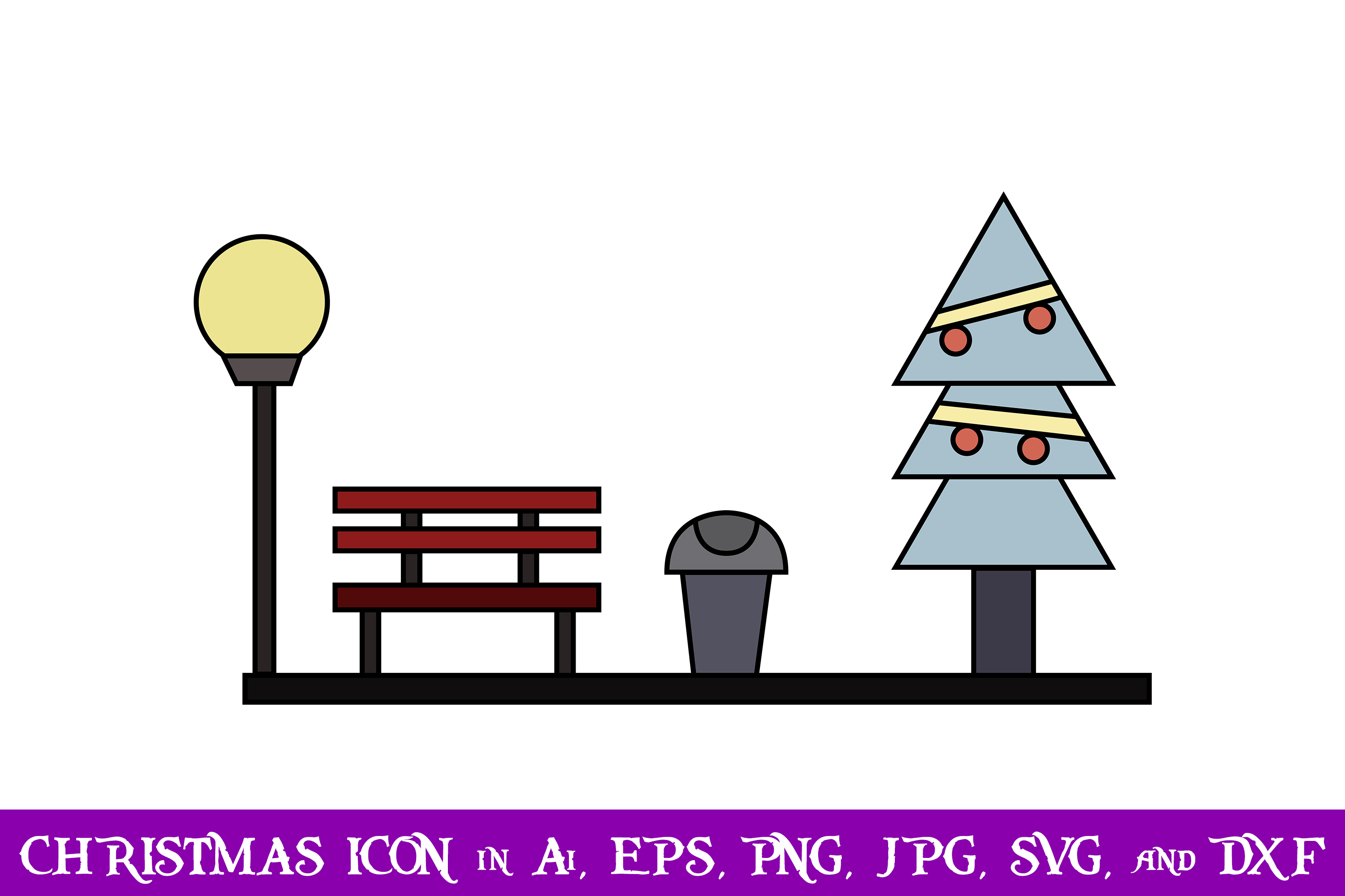 Download Free Park Christmas Icon Graphic By Purplespoonpirates Creative Fabrica for Cricut Explore, Silhouette and other cutting machines.
