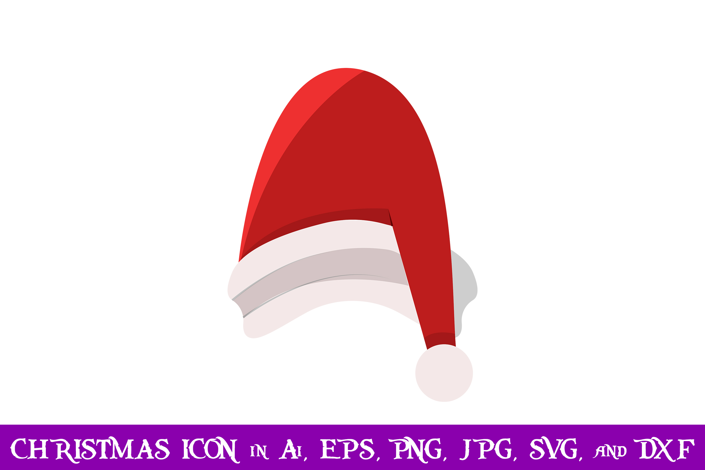 Download Free Santa Cap Christmas Icon Grafik Von Purplespoonpirates for Cricut Explore, Silhouette and other cutting machines.