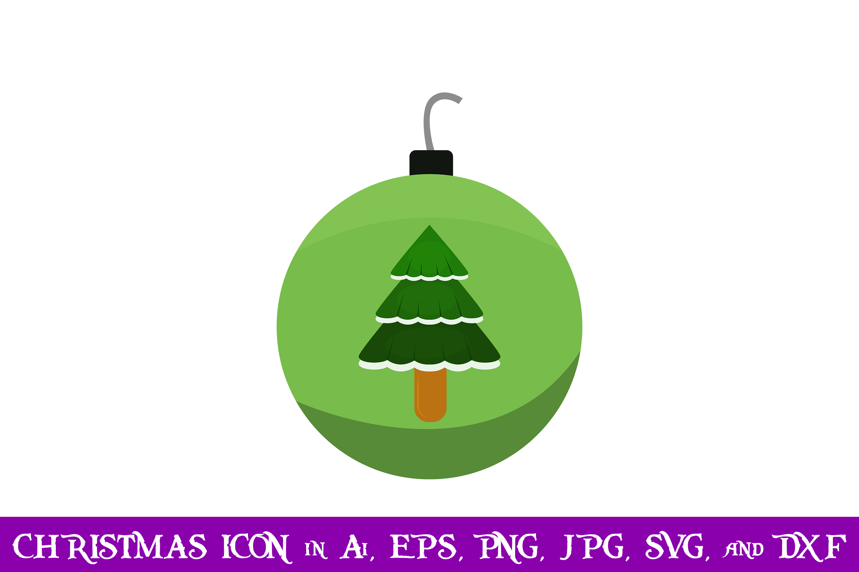 Download Free Tree Baubles Christmas Icon Graphic By Purplespoonpirates for Cricut Explore, Silhouette and other cutting machines.