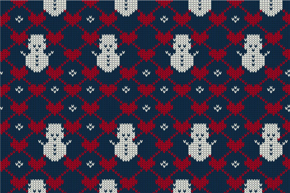 Download Free Christmas Seamless Knitted Pattern Graphic By Jannta Creative for Cricut Explore, Silhouette and other cutting machines.