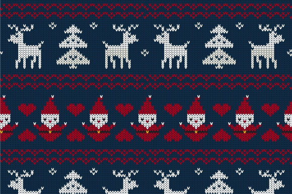 Print on Demand: Christmas Seamless Knitted Pattern Graphic Patterns By jann