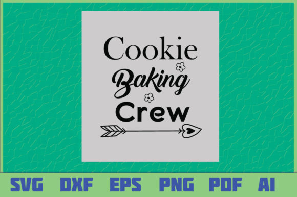 Download Free Cookie Baking Crew Graphic By Sajidmajid441 Creative Fabrica for Cricut Explore, Silhouette and other cutting machines.
