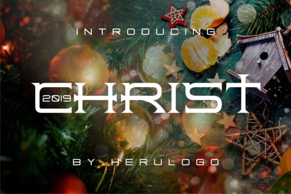 Print on Demand: Christ Display Font By Herulogo