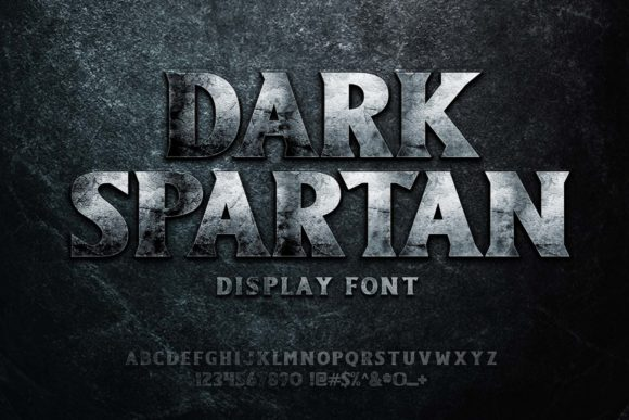 Print on Demand: Dark Spartan Display Font By Herulogo