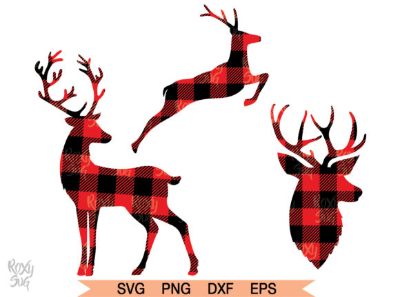 Download Free Reindeer Graphic By Roxysvg26 Creative Fabrica for Cricut Explore, Silhouette and other cutting machines.