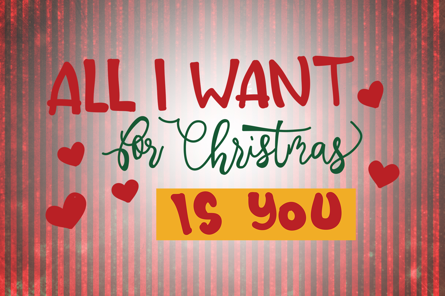 Download Free All I Want For Christmas Is You Quotes Grafico Por SVG Cut Files