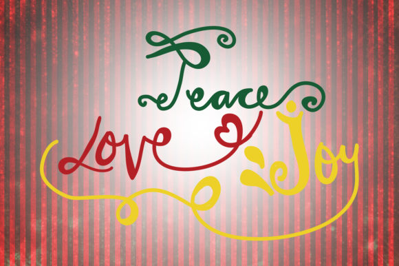 Download Free Peace Love Joy Christmas Quotes Graphic By Wienscollection for Cricut Explore, Silhouette and other cutting machines.
