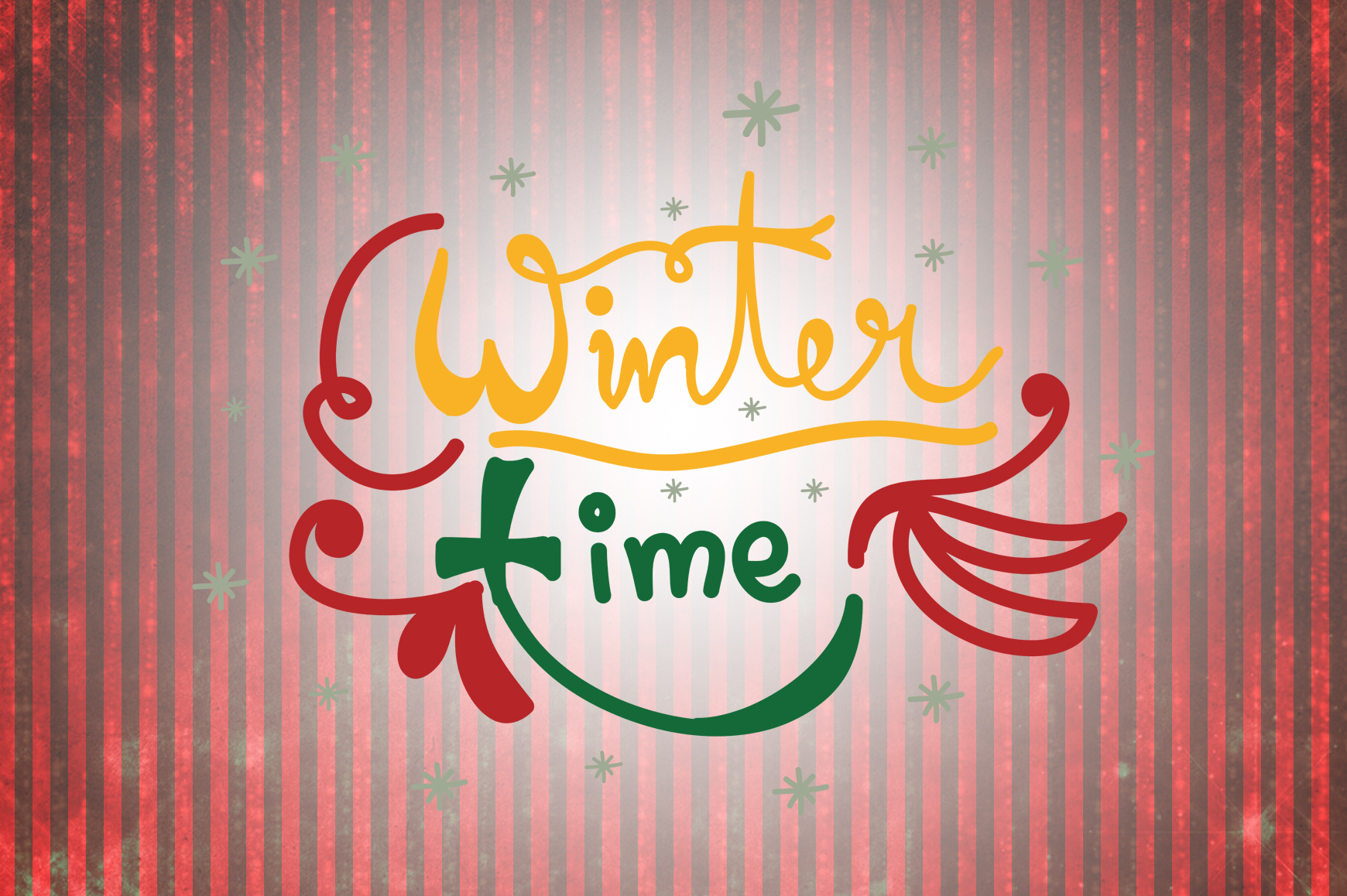 Download Free Winter Time Christmas Quotes Graphic By Wienscollection for Cricut Explore, Silhouette and other cutting machines.