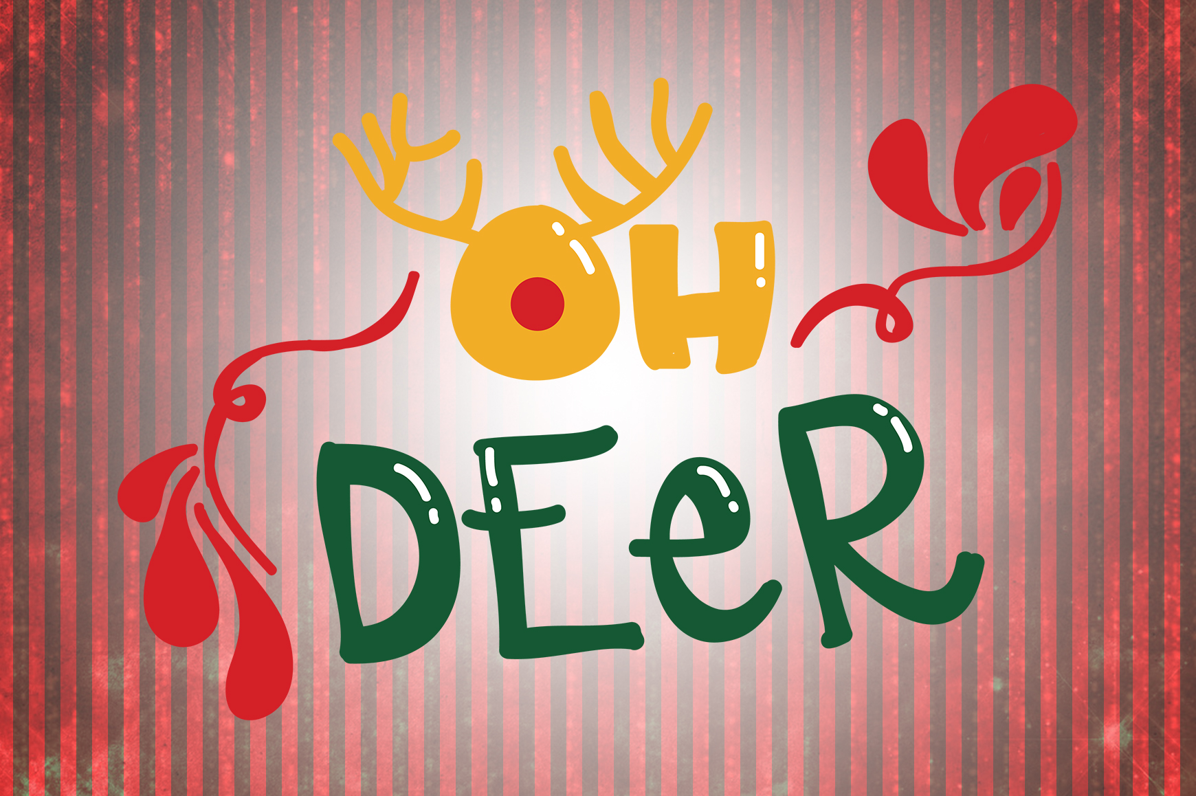 Download Free Oh Deer Christmas Quotes Graphic By Wienscollection Creative for Cricut Explore, Silhouette and other cutting machines.