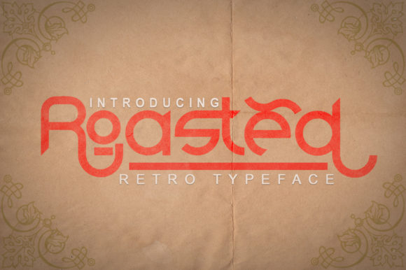 Print on Demand: Roasted Display Font By Green Adventure Studio