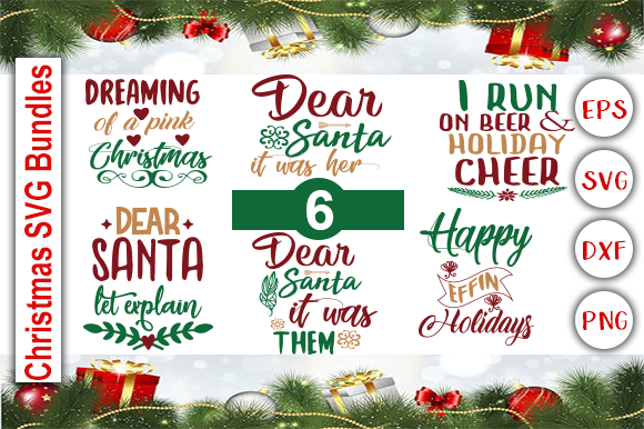 Download Free Christmas Bundle Grafico Por Graphics Cafe Creative Fabrica for Cricut Explore, Silhouette and other cutting machines.