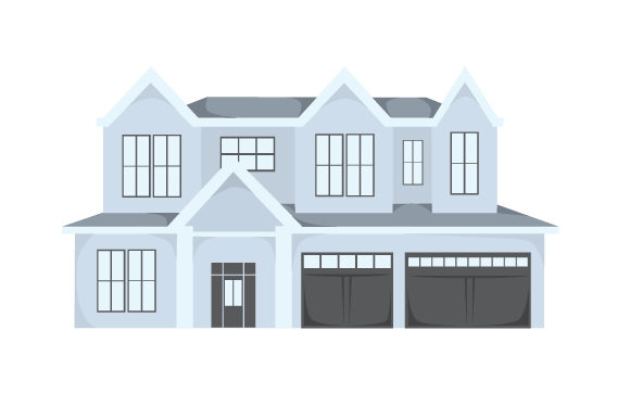 Download Free Two Story House Svg Cut File By Creative Fabrica Crafts for Cricut Explore, Silhouette and other cutting machines.