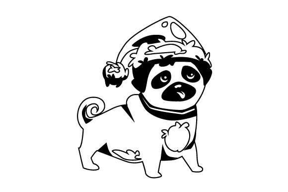 Download Free Christmas Dog With Santa Hat Svg Cut File By Creative Fabrica Crafts Creative Fabrica for Cricut Explore, Silhouette and other cutting machines.
