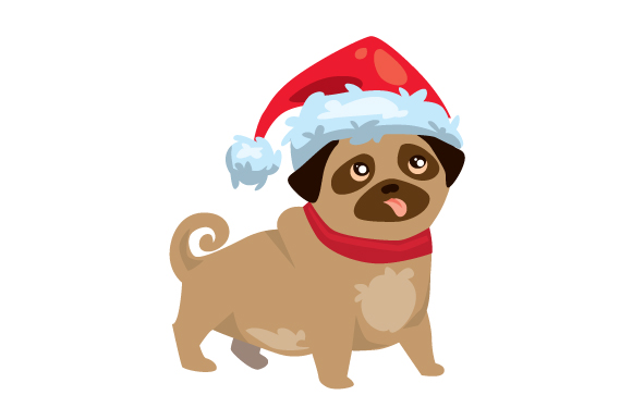 Download Free Christmas Dog With Santa Hat Svg Cut File By Creative Fabrica for Cricut Explore, Silhouette and other cutting machines.