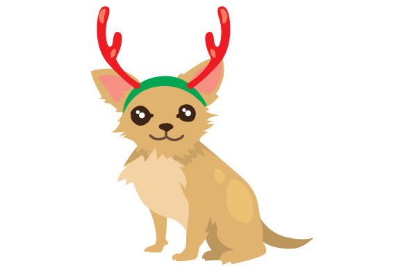 Download Free Christmas Dog With Reindeer Antlers Svg Cut File By Creative Fabrica Crafts Creative Fabrica for Cricut Explore, Silhouette and other cutting machines.