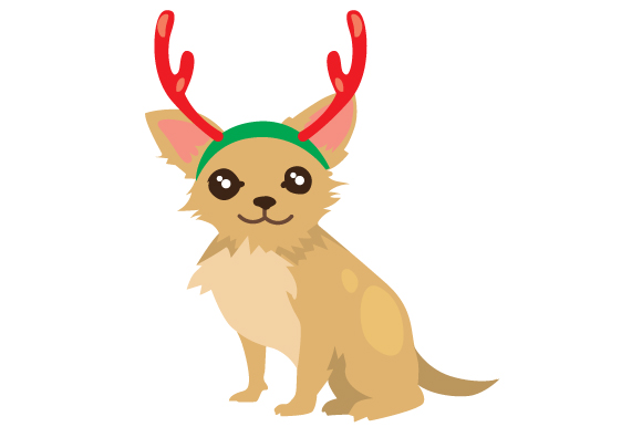 Download Free Christmas Dog With Reindeer Antlers Svg Cut File By Creative for Cricut Explore, Silhouette and other cutting machines.