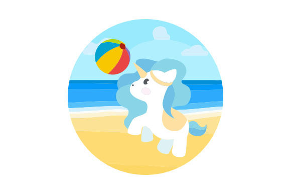 Download Free Beach Unicorn Svg Cut File By Creative Fabrica Crafts Creative for Cricut Explore, Silhouette and other cutting machines.