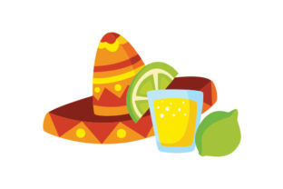 Tequila, Lime and Hat Mexico Craft Cut File By Creative Fabrica Crafts